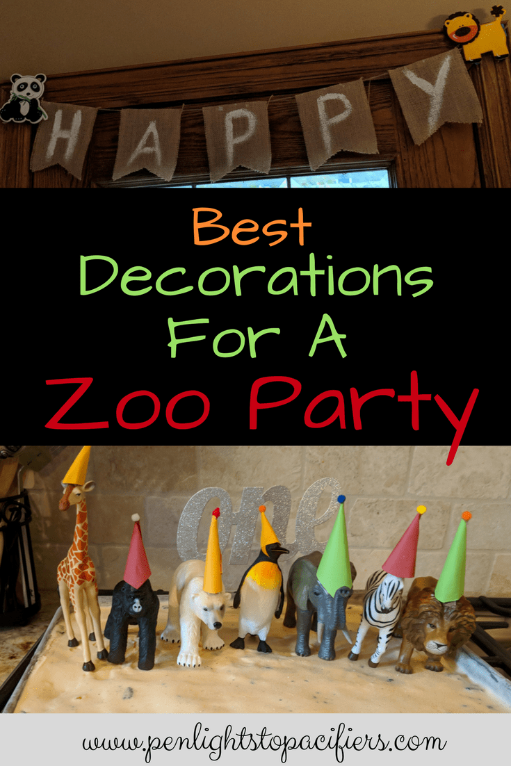 The Best decorations for a zoo themed first birthday party. Zoo party decorations diy, animal birthday, zoo party decoration ideas, birthday banners for zoo party